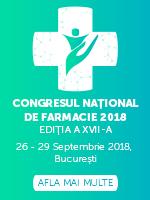 CONGRESUL NAȚIONAL DE FARMACIE 2018